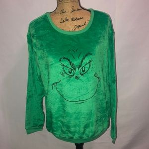 The Grinch Fuzzy Ugly Christmas Sweater XL